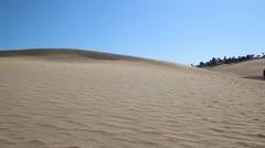 Beautiful sandy scenery in full HD Stock Footage