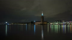 Stockholm city hall time-lapse Stock Footage