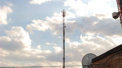Mobile antenna in a building Stock Footage