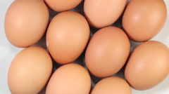 Rotating of egg , top view Stock Footage