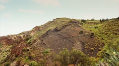 La Caldera de Bandama in volcanic island Gran Canaria. - stock footage