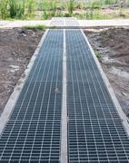New steel drainage - stock photo
