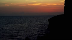 Sunset on Gran Canaria - stock footage