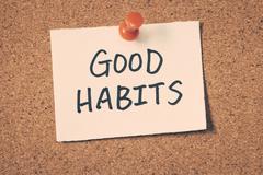 good habits - stock photo