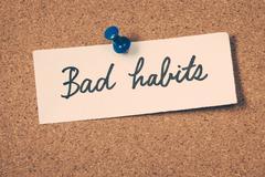 bad habits - stock photo