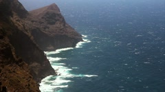 Atlantic ocean in full HD. Rocks and Cliffs of Gran Canaria. Stock Footage
