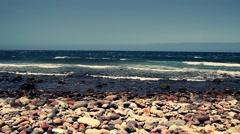 Atlantic ocean in full HD. Rocks and Cliffs of Gran Canaria Stock Footage