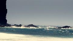 Atlantic ocean in full HD. Rocks and Cliffs of Gran Canaria. Stock Footage