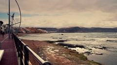 Beach at Las Palmas in full HD. Gran Canaria footage. Stock Footage