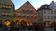 Christmas Season in Rothenburg ob der Tauber, Germany Stock Footage