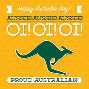 Typographic retro Australia Day card in vector format. - stock illustration
