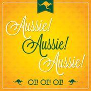 Elegant typographic Australia Day card in vector format. - stock illustration