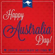 Stock Illustration of Elegant typographic Australia Day card in vector format.