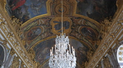Palace of versailles chandeliers close up Stock Footage