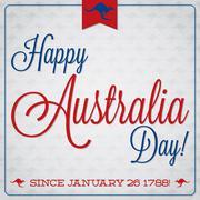 Elegant typographic Australia Day card in vector format. Stock Illustration