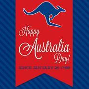 Australia Day sash card in vector format. Stock Illustration