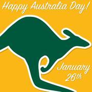 Kangaroo Australia Day card in vector format. - stock illustration