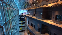 Harpa Theater Indoor Decoration And Steps,reykjavik,iceland Stock Footage
