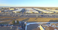 Aerial view of industrial park. Stock Footage