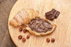 Bread, Butter And Chocolate - stock photo