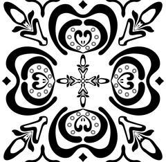 Seamless black-and-white ornate pattern Stock Illustration
