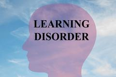 Learing disorder concept Stock Illustration