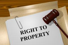 Stock Illustration of Right to Property concept