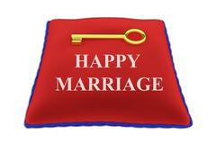 Key to Happy Marriage concept Stock Illustration