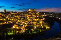 Toledo at dusk Spain Kuvituskuvat