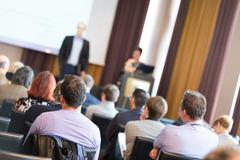 Audience in the lecture hall. Stock Photos