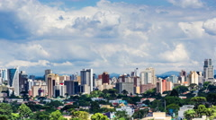 Timelapse View of Curitiba Cityscape, Parana, Brazil - stock footage