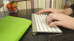 The man quickly typing on the keyboard. Arkistovideo