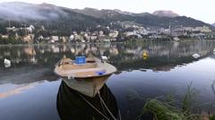 Moritz Lake, St. Moritz, Switzerland Stock Footage