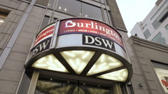 Burlington Coat Factory and DSW clothing and department store Union Square NYC Stock Footage