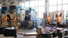 OSLO - NORWAY, AUGUST 2015: hadeland glassverk, glass factory view Stock Footage