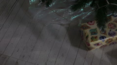 Christmas gifts under the Christmas tree. Stock Footage