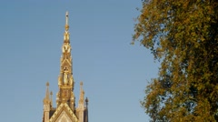 Pan down the Albert Memorial in Hyde Park Stock Footage