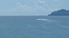 Boats in Golf of Tigullio Between Rapallo and Portofino - 29,97FPS NTSC Stock Footage