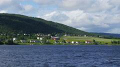 Randsfjorden lake near oslo, norway, Stock Footage