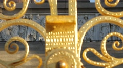 Tilt up the front aspect of the Albert Memorial Stock Footage