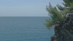 Coastal Cliff at Moneglia Italy - 29,97FPS NTSC Stock Footage