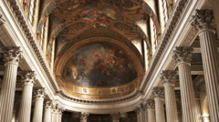 Stock Video Footage of close up shot of the ceiling of the royal chapel in the palace of versailles