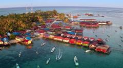 Derawan Island, East Borneo Kalimantan, Aerial Video Stock Footage
