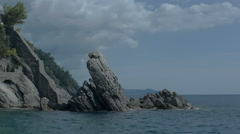 Erect Rock at Zoagli Beach Italy - 29,97FPS NTSC - stock footage