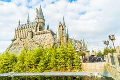 Stock Photo of OSAKA, JAPAN - December 1, 2015 : Hogwarts School of Witchcraft Castle and Wi