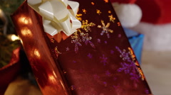 Wrapping Christmas Gifts - December holiday Cinematic look - stock footage