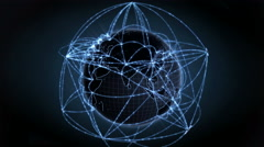 Global communication, data flow. Internet concept. Loops seamlessly. 4K - stock footage