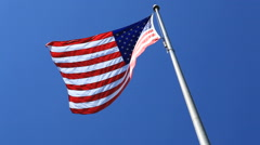 American Flag In Breeze - stock footage