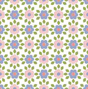 Stock Illustration of Spring floral pattern textiles
