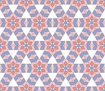 hexagonal flower pattern - stock illustration
